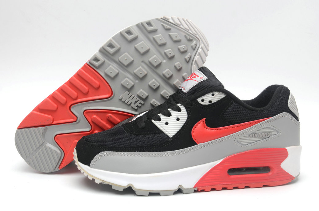Where To Buy Cheap Wholesale Womens Nike Air Maxs 90 Black Red Grey White - www.wholesaleflyknit.com