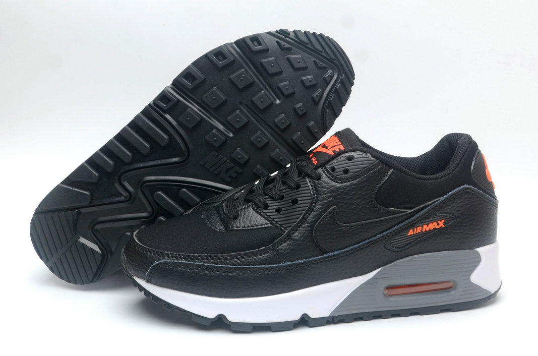 Where To Buy Cheap Wholesale Womens Nike Air Maxs 90 Black Total Orange Grey White - www.wholesaleflyknit.com