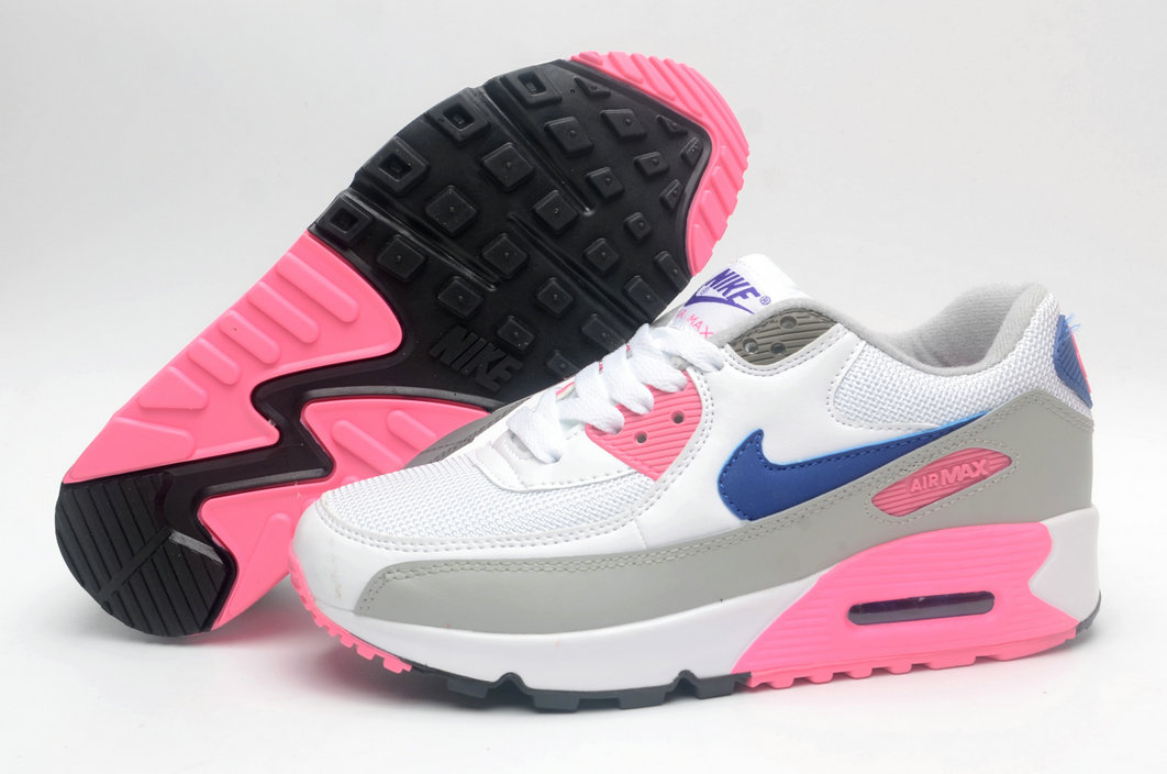 Where To Buy Cheap Wholesale Womens Nike Air Maxs 90 Classic White Concord Pink Grey 313098-141 - www.wholesaleflyknit.com