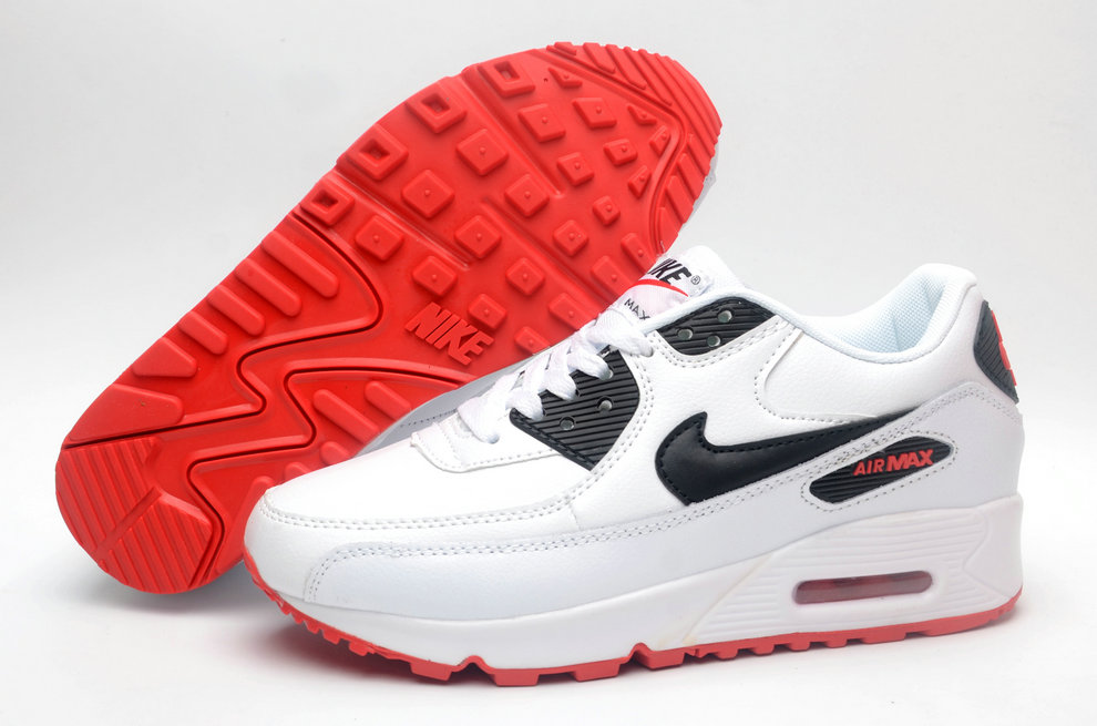 Where To Buy Cheap Wholesale Womens Nike Air Maxs 90 Classic White Red Black - www.wholesaleflyknit.com