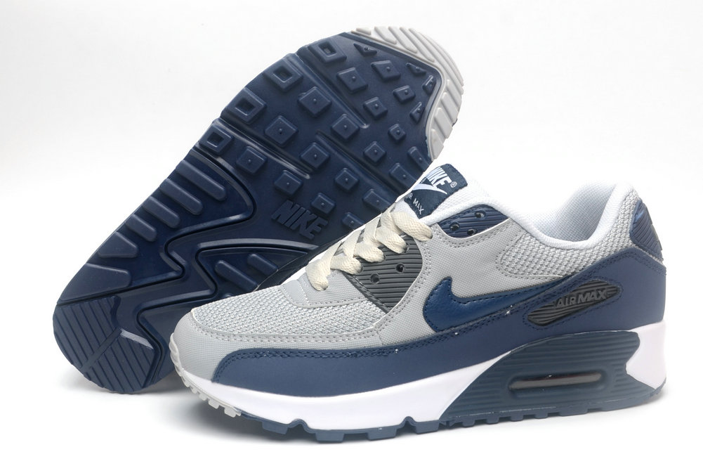 Where To Buy Cheap Wholesale Womens Nike Air Maxs 90 Cold Grey Royal Blue White - www.wholesaleflyknit.com