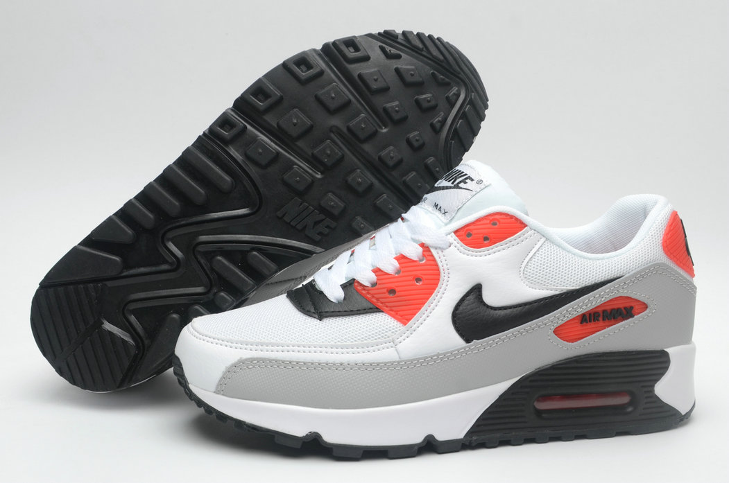 Where To Buy Cheap Wholesale Womens Nike Air Maxs 90 Gym Red White Grey Black - www.wholesaleflyknit.com