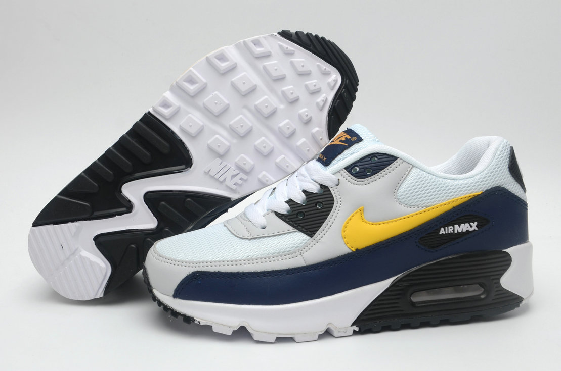 Where To Buy Cheap Wholesale Womens Nike Air Maxs 90 Navy Blue White Yellow Black - www.wholesaleflyknit.com