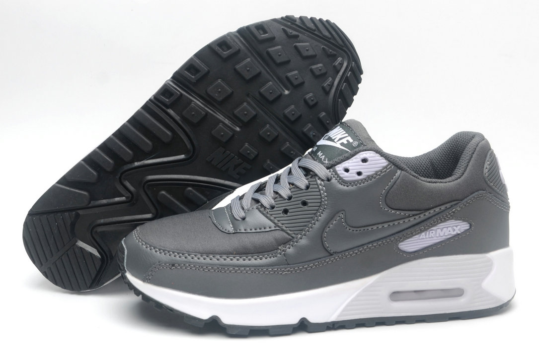 Where To Buy Cheap Wholesale Womens Nike Air Maxs 90 Wolf Grey White Black - www.wholesaleflyknit.com