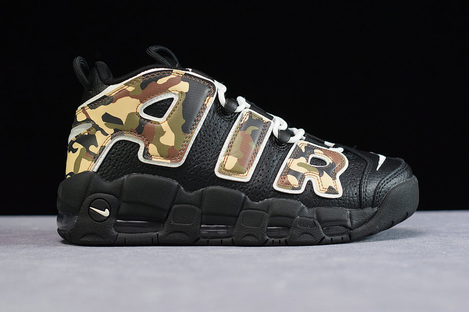 Where To Buy Cheap Wholesale Womens Nike Air More Uptempo Black Camo CJ0930-001 - www.wholesaleflyknit.com