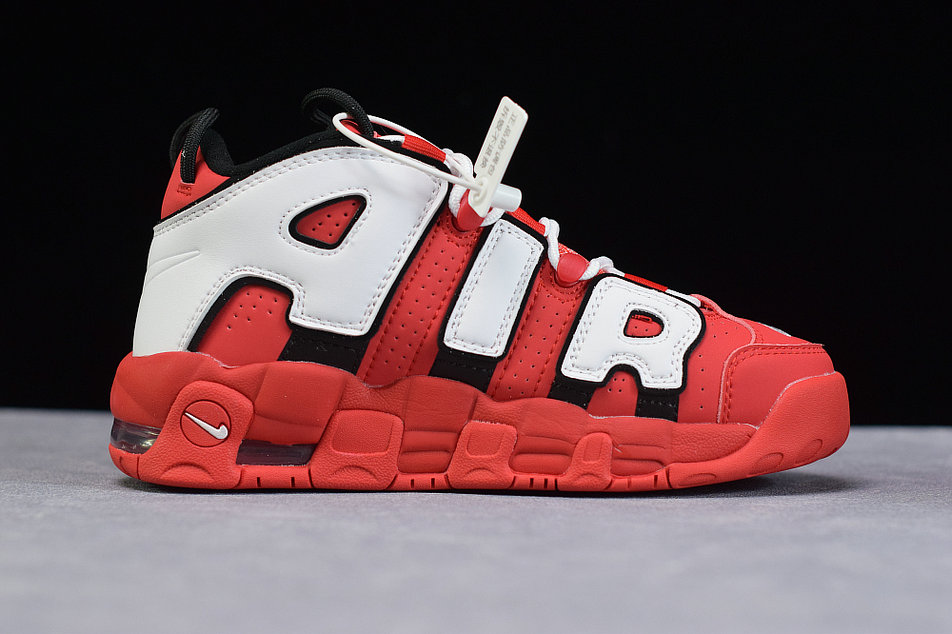Where To Buy Cheap Wholesale Womens Nike Air More Uptempo OG University Red White Black Universite Rouge Noir Blanc CD9403-600 - www.wholesaleflyknit.com