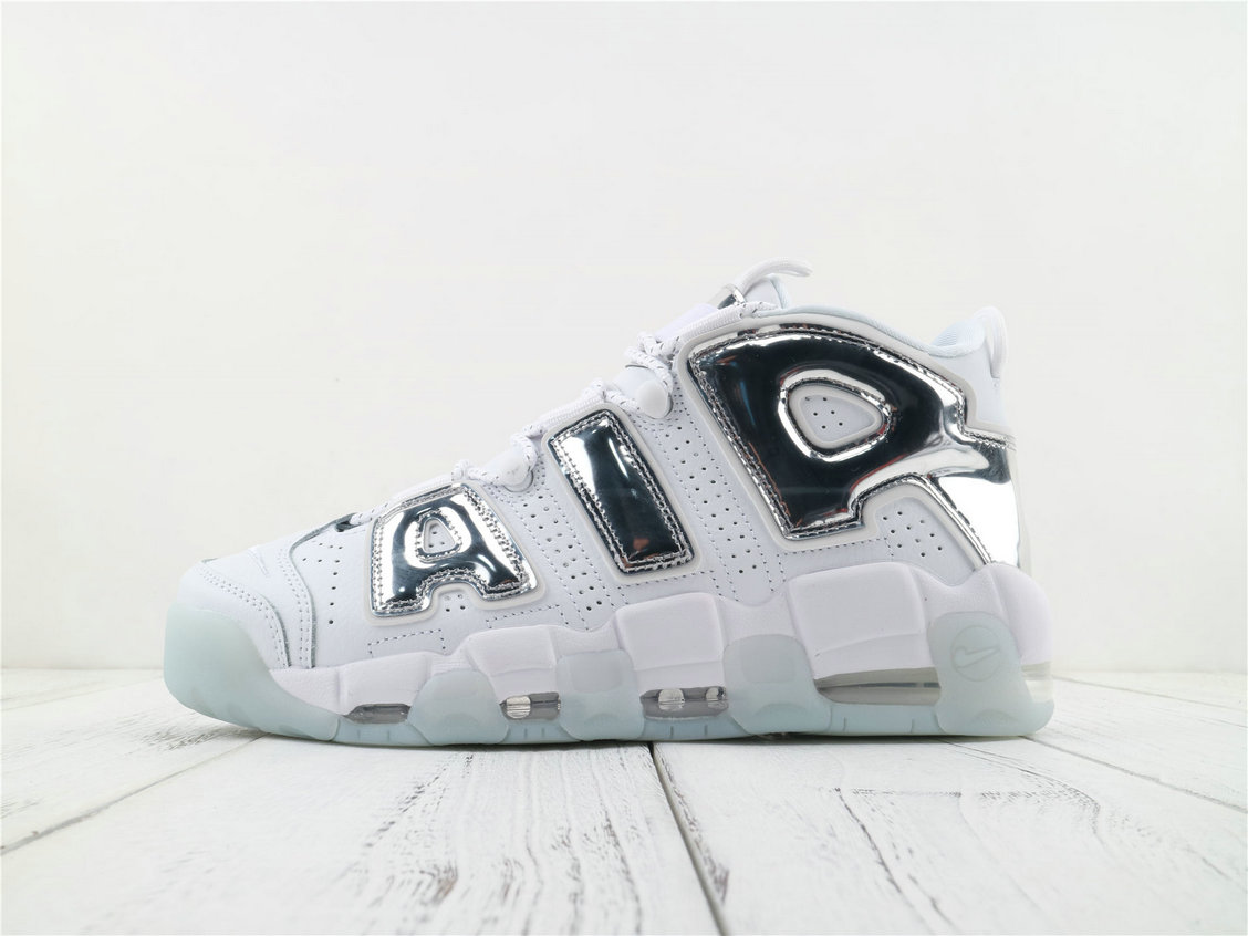 Where To Buy Wholesale Cheap Womens Nike Air More Uptempo White Chrome-Blue Tint 917593 100 - www.wholesaleflyknit.com