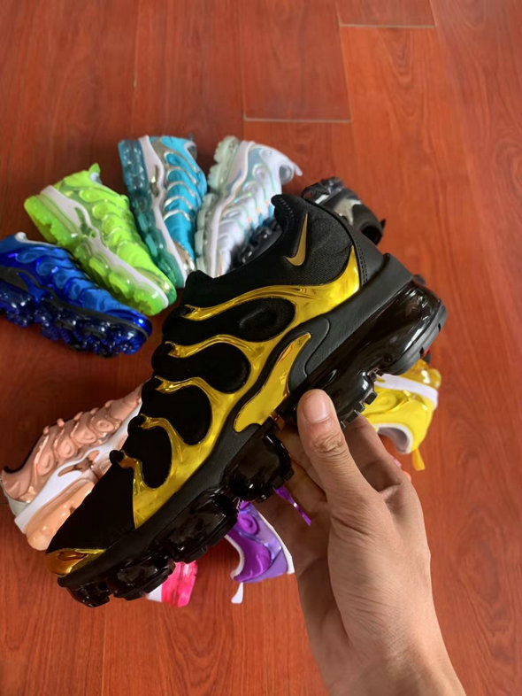 Where To Buy Cheap Wholesale Womens Nike Air VaporMax Plus TN Black Golden - www.wholesaleflyknit.com