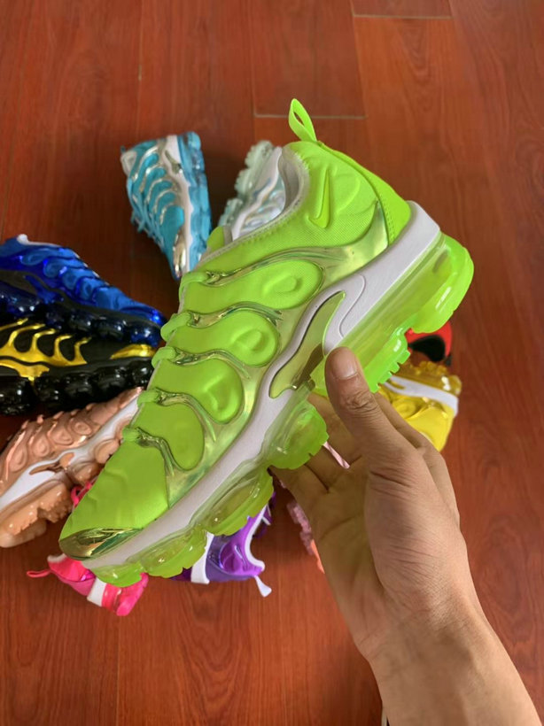 Where To Buy Cheap Wholesale Womens Nike Air VaporMax Plus TN Fluorescent Green White - www.wholesaleflyknit.com