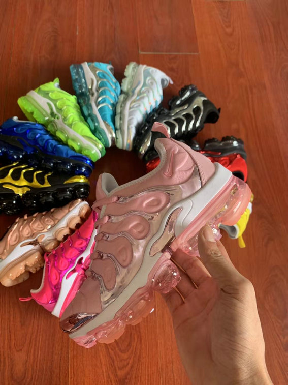 Where To Buy Cheap Wholesale Womens Nike Air VaporMax Plus TN Pink Golden White - www.wholesaleflyknit.com