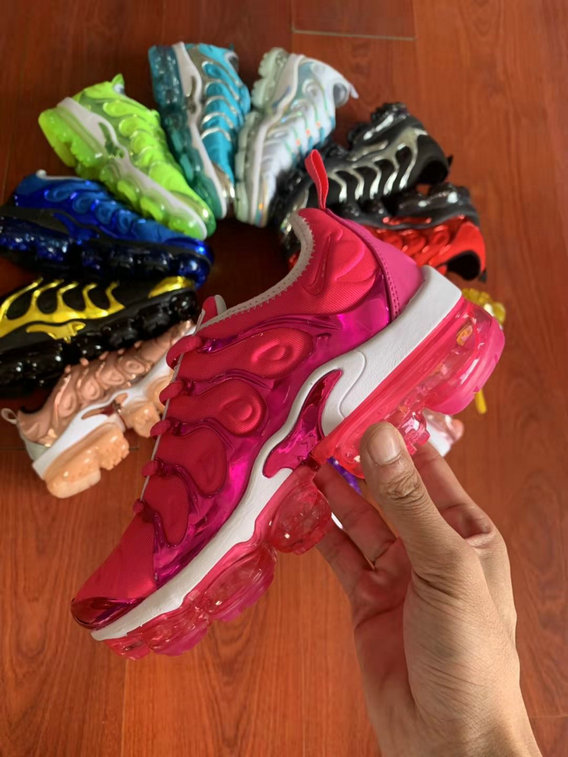 Where To Buy Cheap Wholesale Womens Nike Air VaporMax Plus TN Pink Red White - www.wholesaleflyknit.com