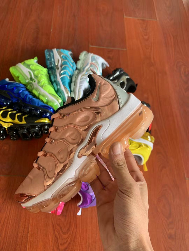 Where To Buy Cheap Wholesale Womens Nike Air VaporMax Plus TN Rose Gold White - www.wholesaleflyknit.com