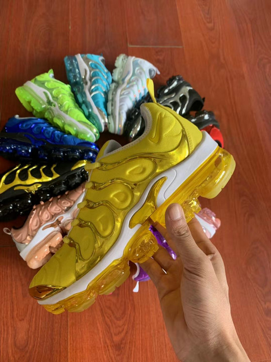 Where To Buy Cheap Wholesale Womens Nike Air VaporMax Plus TN Yellow Gold White - www.wholesaleflyknit.com