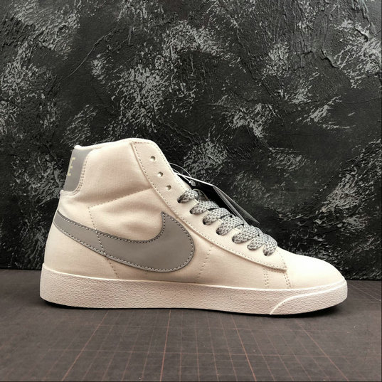 Where To Buy Cheap Wholesale Womens Nike Blazer Mid PRM VNTG Ivory White Space Silver CD8233-106 - www.wholesaleflyknit.com
