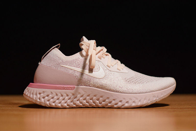 Where To Buy Cheap Wholesale Womens Nike Epic React Flyknit Pearl Pink AQ0070-600 - www.wholesaleflyknit.com