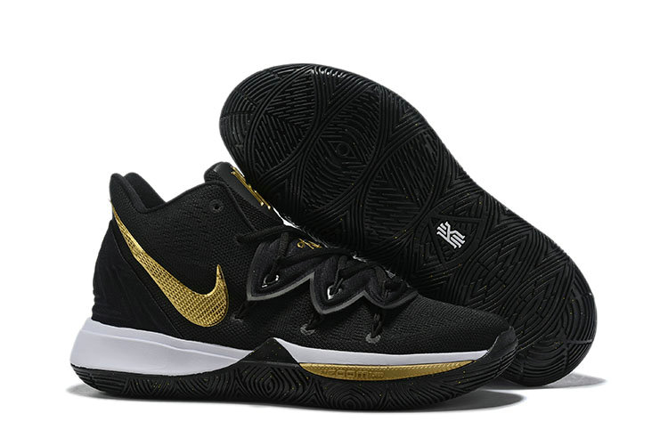 Where To Buy Cheap Wholesale Womens Nike Kyrie Irving 5 Golden Black White - www.wholesaleflyknit.com
