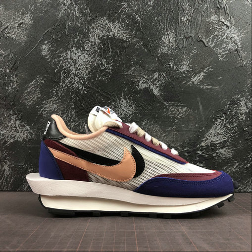 Where To Buy Cheap Wholesale Womens Nike LdWaffle Sacai White Grey Dk.Purple Blanc Gris Dk.Violet BV0073-700 - www.wholesaleflyknit.com