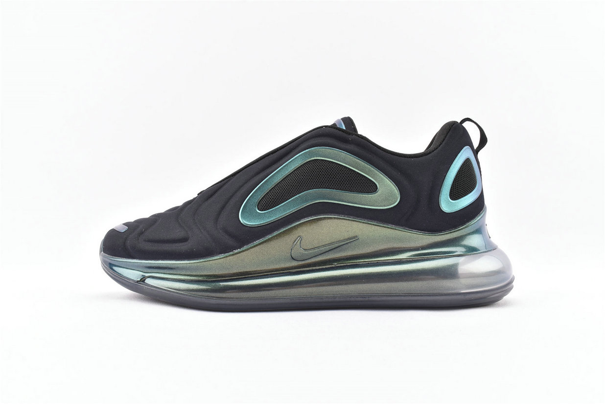 Where To Buy Wholesale Cheap Womens Nike Sportwear Air Max 720 Throwback Future Black Blue Green Metallic Silver AO2924-010 - www.wholesaleflyknit.com