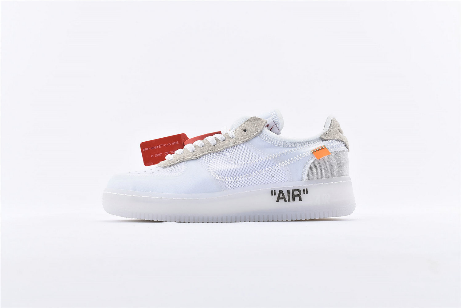 Where To Buy Wholesale Cheap Womens Off-White x Nike Air Force 1 Low White-White-Sail AO4606-100 - www.wholesaleflyknit.com
