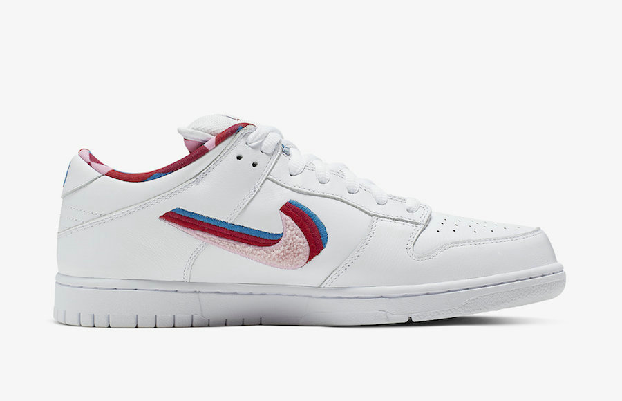 Where To Buy Cheap Wholesale Womens Parra x Nike SB Dunk Low Friends And Family Midnight Turquoise Pink Rose CN4504-300 - www.wholesaleflyknit.com