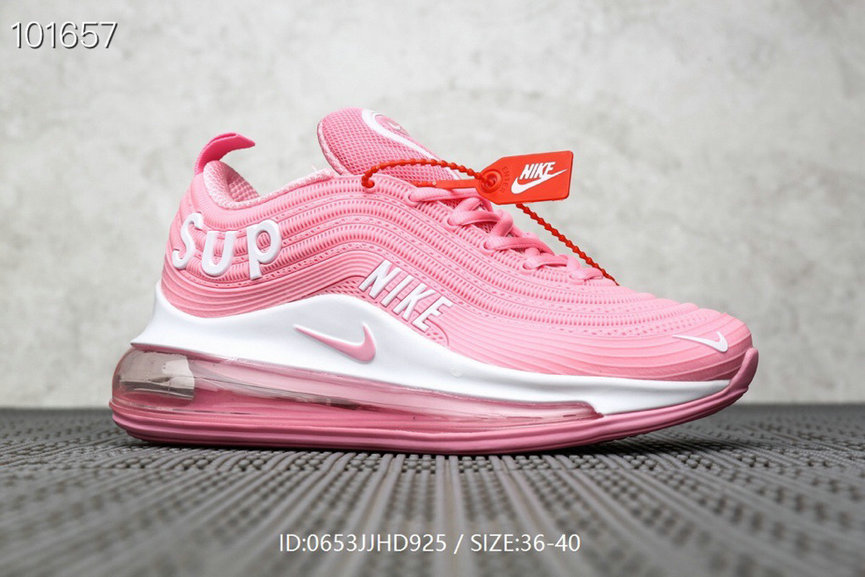 Where To Buy Wholesale Cheap Womens Supreme x Nike Air Max 97 Pink White - www.wholesaleflyknit.com