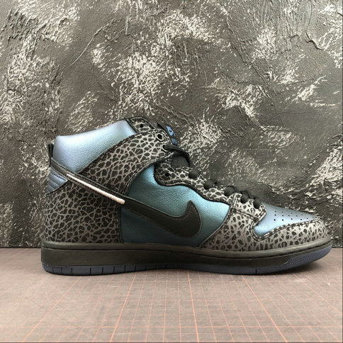 Womens 2019 Wholesale Cheap HARU Nike SB Dunk High Black Sheep Green Black Vert Noir BQ6827-001 - www.wholesaleflyknit.com