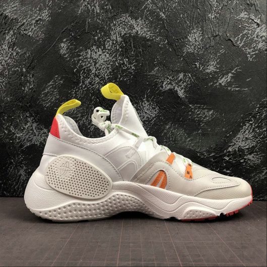 Womens 2019 Wholesale Cheap Heron Preston x Nike Huarache E.D.G.E. Blanche Rouge Jaune CD5779-100 - www.wholesaleflyknit.com