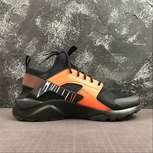 Womens 2019 Wholesale Cheap NIKE AIR HUARACHE RUN ULTRA Black Orange Noir Orange 819685-058 - www.wholesaleflyknit.com