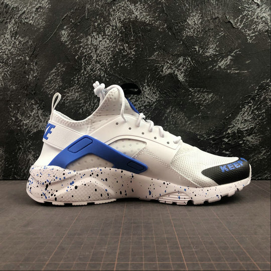 Womens 2019 Wholesale Cheap NIKE AIR HUARACHE ULTRA 847568 013 WHITE ROYAL BLUE BLACK - www.wholesaleflyknit.com