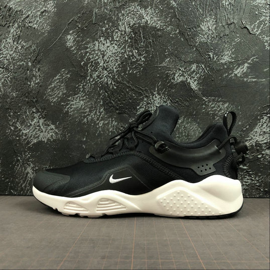 Womens 2019 Wholesale Cheap Nike Air Huarache City Move Black White AO3172-001 - www.wholesaleflyknit.com