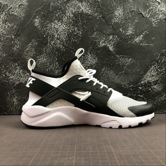Womens 2019 Wholesale Cheap Nike Air Huarache Run Ultra White Black - www.wholesaleflyknit.com
