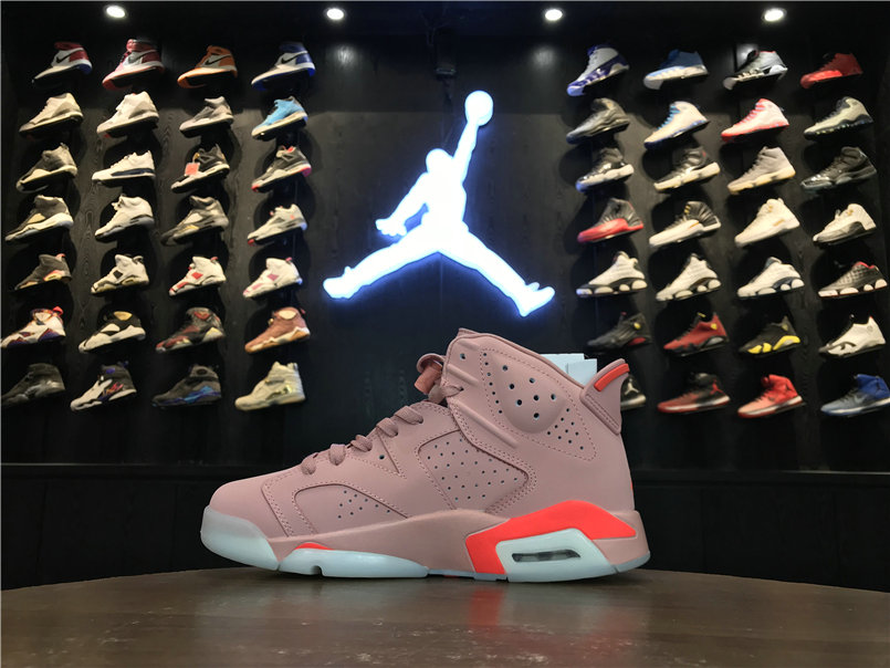 Womens 2019 Cheapest Wholesale Nike Air Jordan 6 Millennial Pink 384664-031 - www.wholesaleflyknit.com