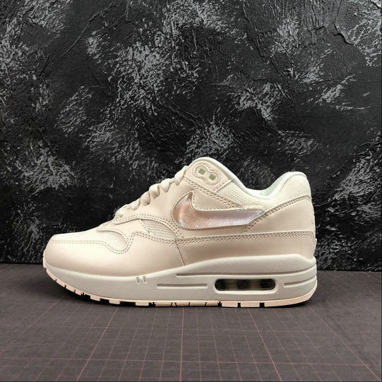 Womens 2019 Wholesale Cheap Nike Air Max 1 Gets Oversized Jewel Swoosh Logos And Tongue Labels - www.wholesaleflyknit.com