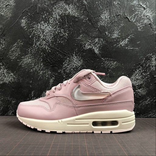 Womens 2019 Wholesale Cheap Nike Air Max 1 Jelly Swoosh Plum Chalk AT5248-500 - www.wholesaleflyknit.com