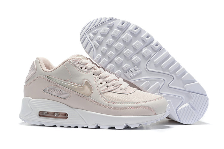 Womens 2019 Wholesale Cheap Nike Air Max 90 Cream White - www.wholesaleflyknit.com
