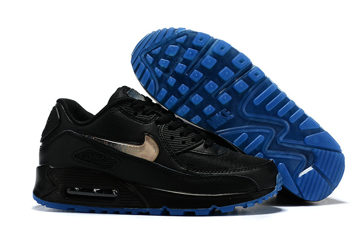 Womens 2019 Wholesale Cheap Nike Air Max 90 Rose Gold Black Blue - www.wholesaleflyknit.com