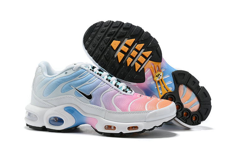 Womens 2019 Wholesale Cheap Nike Air Max Plus Pink Blue White Black - www.wholesaleflyknit.com