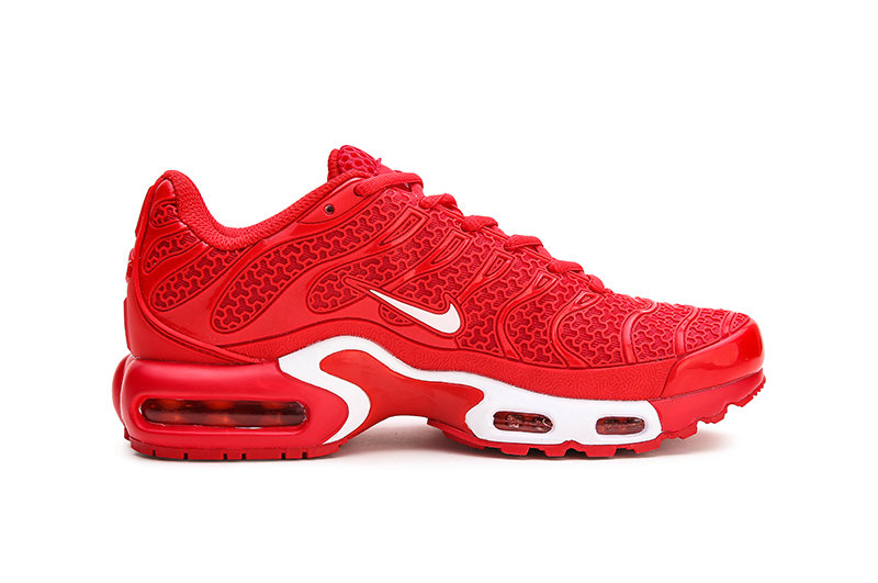 Womens 2019 Wholesale Cheap Nike Air Max Plus TN University Red White - www.wholesaleflyknit.com