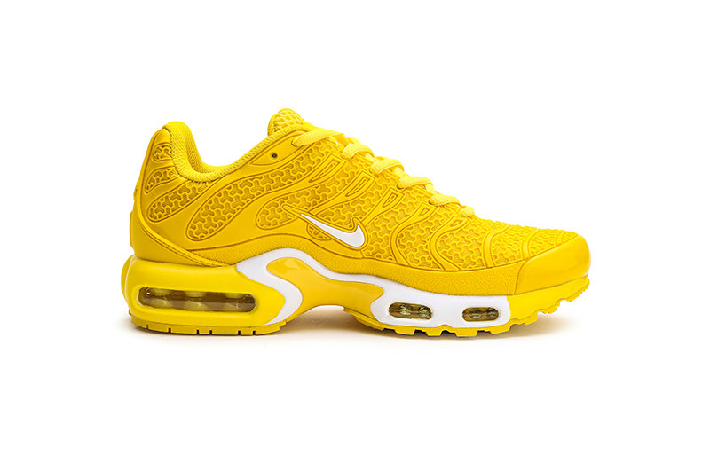 Womens 2019 Wholesale Cheap Nike Air Max Plus TN Yellow White - www.wholesaleflyknit.com