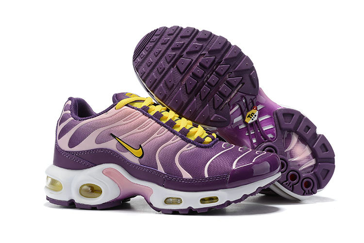 Womens 2019 Wholesale Cheap Nike Air Max Plus Yellow Purple Pink White - www.wholesaleflyknit.com