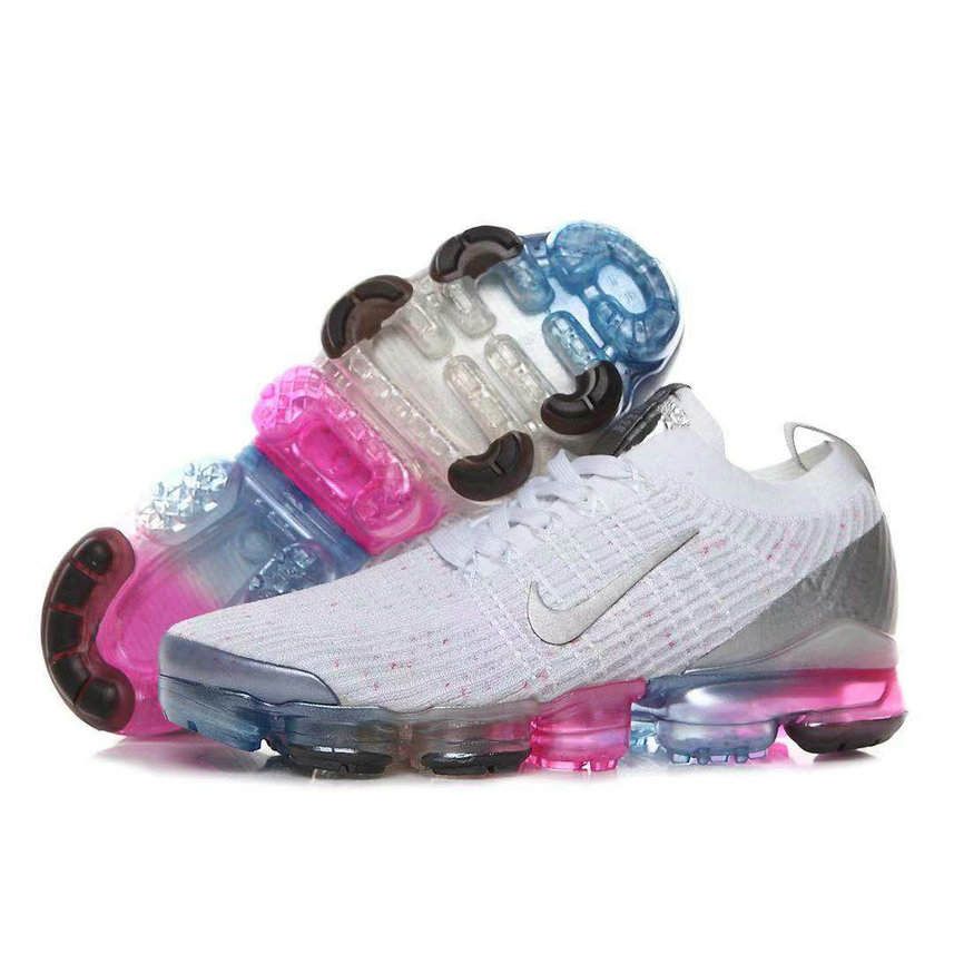 Womens 2019 Wholesale Cheap Nike Air VaporMax Flyknit 3.0 White Be True Colorful - www.wholesaleflyknit.com