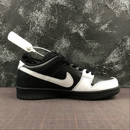 Womens 2019 Wholesale Cheap Nike Dunk Low PREMIUM SB Black White Noir Blanc 313170-023 - www.wholesaleflyknit.com