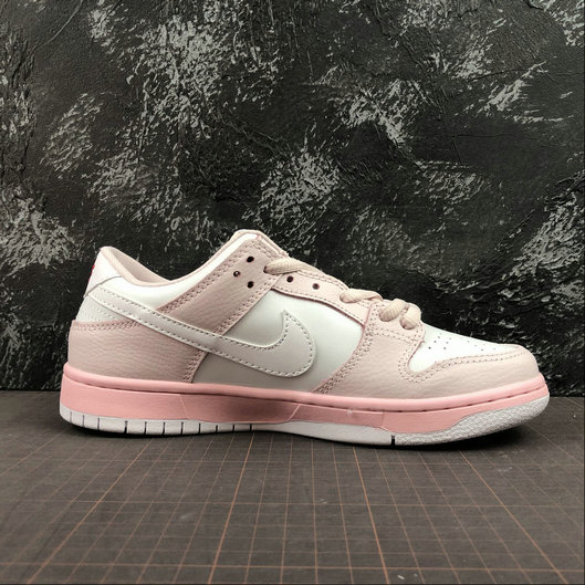 Womens 2019 Wholesale Cheap Nike Dunk SB Low Elite White Pink Dove BV1310-012 - www.wholesaleflyknit.com