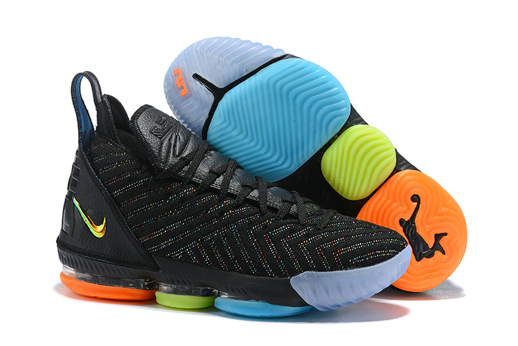 Womens 2019 Wholesale Cheap Nike LeBron 16 I Promise Black Multi-Color AO2595-004 - www.wholesaleflyknit.com