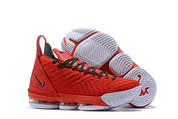 Womens 2019 Wholesale Cheap Nike Lebron 16 Basketball Shoe Mens Red Black White - www.wholesaleflyknit.com