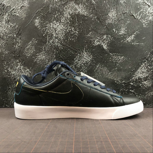 Womens 2019 Wholesale Cheap Nike SB Blazer Low GT NBA Black Amarillo Coast Black BQ6389-001 - www.wholesaleflyknit.com
