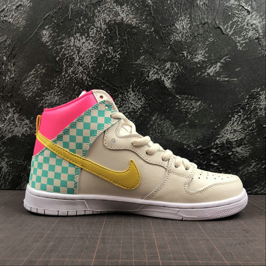 Womens 2019 Wholesale Cheap Nike SB DUNK HIGH PRM ARIZONA Beige White Blanc - www.wholesaleflyknit.com