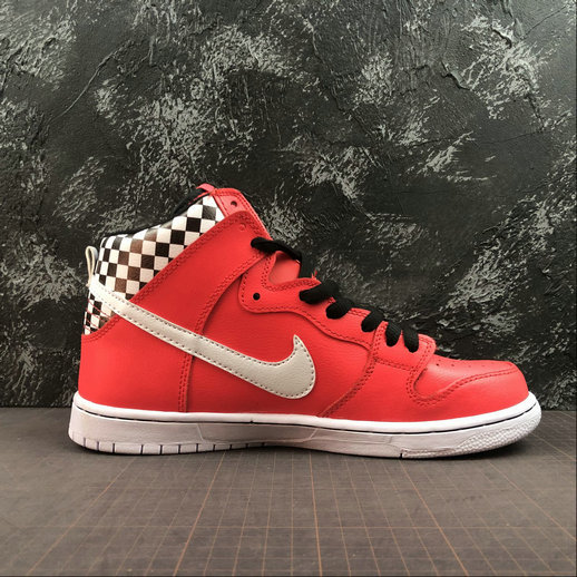 Womens 2019 Wholesale Cheap Nike SB DUNK HIGH PRM LOVE Watermelon Red White Melon Red Blanc - www.wholesaleflyknit.com