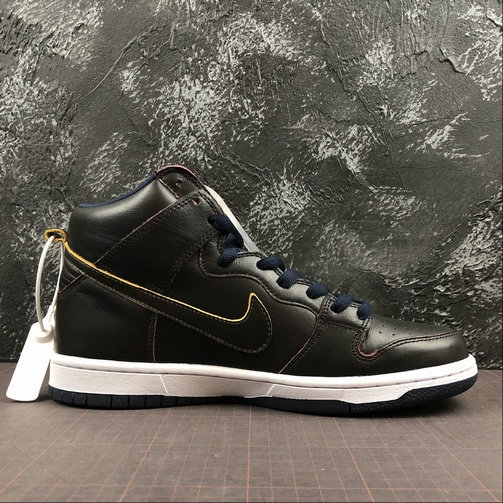 Womens 2019 Wholesale Cheap Nike SB Zoom Dunk High PRO NBA Black College Navy Noir Marine Noir BQ6395-001 - www.wholesaleflyknit.com