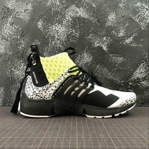 Cheap Wholesale Womens Nike Air Presto Mid ACRONYM AH7832-600 Fluorescent Green White Black - www.wholesaleflyknit.com